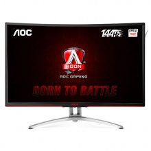 AOC显示器 爱攻 AG322FCX 31.5英寸VA广视角144Hz刷新率 吃鸡游戏电竞曲面