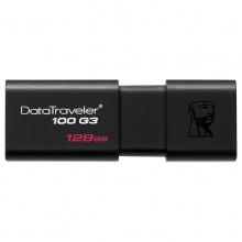 金士顿U盘 128G 闪存盘DT100G3  商务办公车载高速U盘优盘USB3.0官方标配