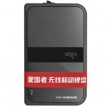 爱国者移动硬盘 HD816 2T 无线 移动硬盘 USB3.0 黑色 无线硬盘黑色