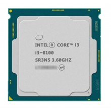 英特尔CPU 酷睿I3-8100 3.6G 1151 散片 质保一年