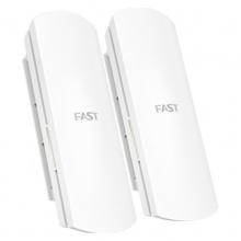 迅捷(FAST) 长距离定向点对点无线网桥 监控视频网络桥接传输 FWB201套装 1公里传输