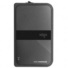 爱国者移动硬盘 USB3.0 HD816 黑色 多功能无线移动硬盘 机线一体
