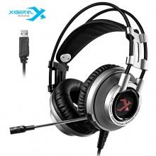 西伯利亚耳机 (XIBERIA)K9 电竞游戏耳机头戴式 电脑耳麦 吃鸡耳机带麦 usb7.1声道 重低音七彩发光