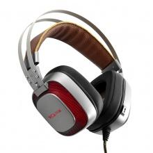 西伯利亚耳机 K10电竞游戏耳机头戴式USB吃鸡耳机 7.1声道电脑耳麦绝地求生 铁灰色:7.1 USB接口