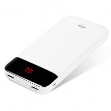 爱国者充电宝E20000+移动电源便携15W双向快充20000毫安时高配版Type-C 3.0A双向快充屏显白色