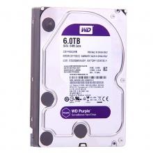 西数硬盘 西部数据(WD)紫盘 6TB SATA6Gb/s 64M 监控硬盘(WD60EJRX)