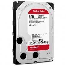 西部数据(WD)红盘 6TB SATA6Gb/s 64M 网络储存(NAS)硬盘(WD60EFRX) 质保三年