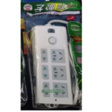 新子弹头008 插座/插线板/插排/排插/接线板/拖线板 全长1.8米