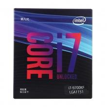 英特尔处理器 英特尔(Intel) i7-9700K 酷睿八核 3.6Ghz 8核8线程 原封盒装 质保三年