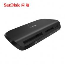 闪迪多合一多功能读卡器UHS-II usb3.0电脑SD卡TF卡通用SDDR-489