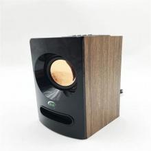微森a68木质迷你USB2.0无线蓝牙小音箱便携小音响手机收款播报(酒红 棕色两种颜色)下单备注颜色