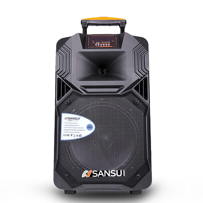 山水 SS1-08 广场舞音响 蓝牙拉杆音箱 户外便携式音响 大功率带无线麦克风扩音器