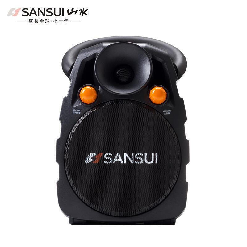 山水 SS3-06户外广场舞音响便携式手提音响蓝牙音箱蓄电池低音炮带无线话筒K歌 官方标配(单无线话筒)