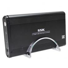 移动硬盘盒飚王(SSK) SH-E056 3.5寸 USB3.0 免工具 串口