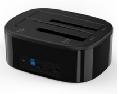 奥睿科(ORICO) 硬盘盒底座双盘位2.5/3.5英寸硬盘座通用硬盘盒子 USB3.0台式 双盘位带拷贝-6228US3-C