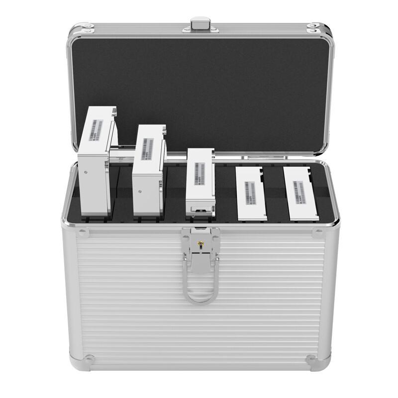 奥睿科(ORICO) 3.5英寸硬盘保护箱 10粒全铝手提式保护盒 防潮/防尘/防震 银色 BSC35-10
