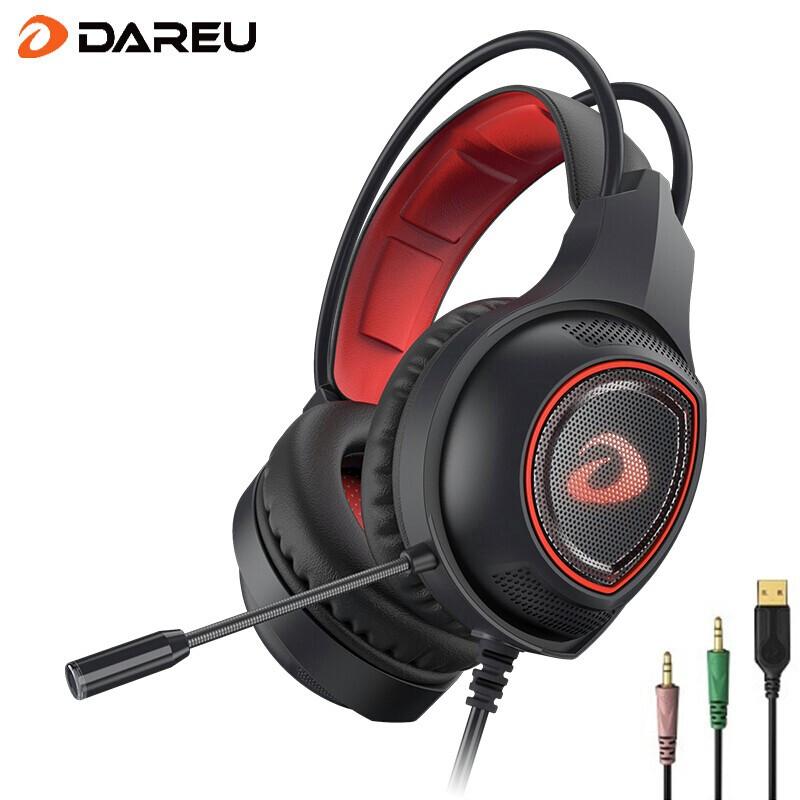 达尔优LH712USB7.1 头戴式耳机耳麦 电竞游戏 电脑笔记本 (USB7.1降噪 有线耳机 家用办公) 黑色 【手机电脑通用 立体声 】