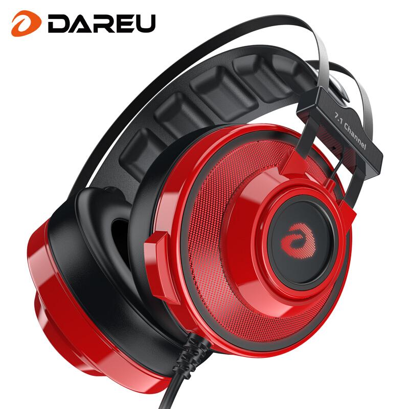 达尔优 EH725头戴式游戏耳机 电脑耳机 电竞耳机 笔记本耳机 吃鸡耳机(7.1声道 USB) 单USB 7.1声道