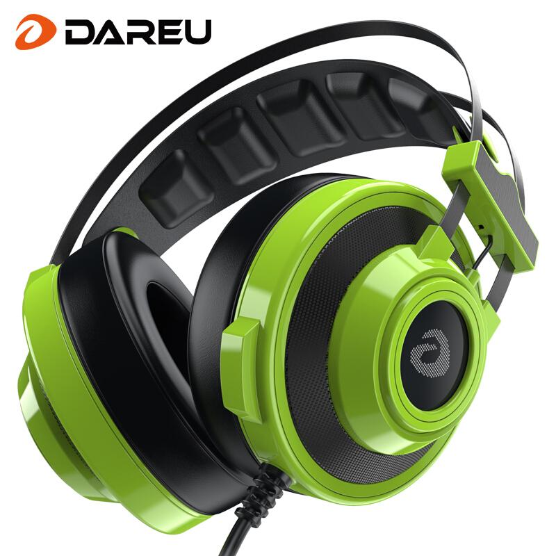 达尔优 EH725头戴式游戏耳机 电脑耳机 电竞耳机 笔记本耳机 吃鸡耳机(7.1声道 USB) 3.5mm 耳机接口
