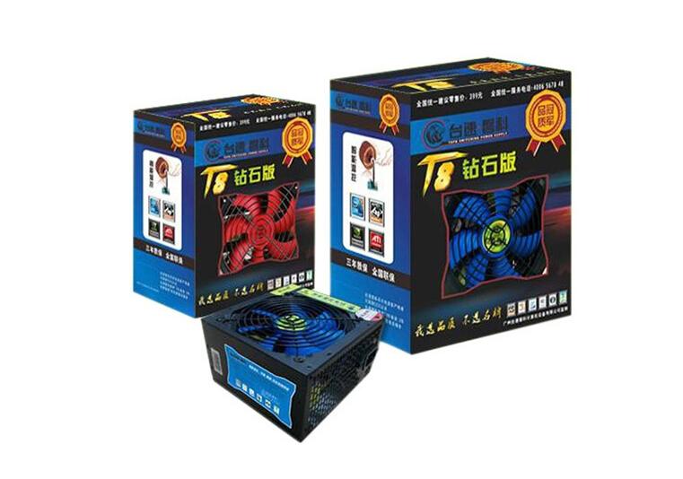 台速磐科T8-550P 钻石版 电源 额定功率:500w