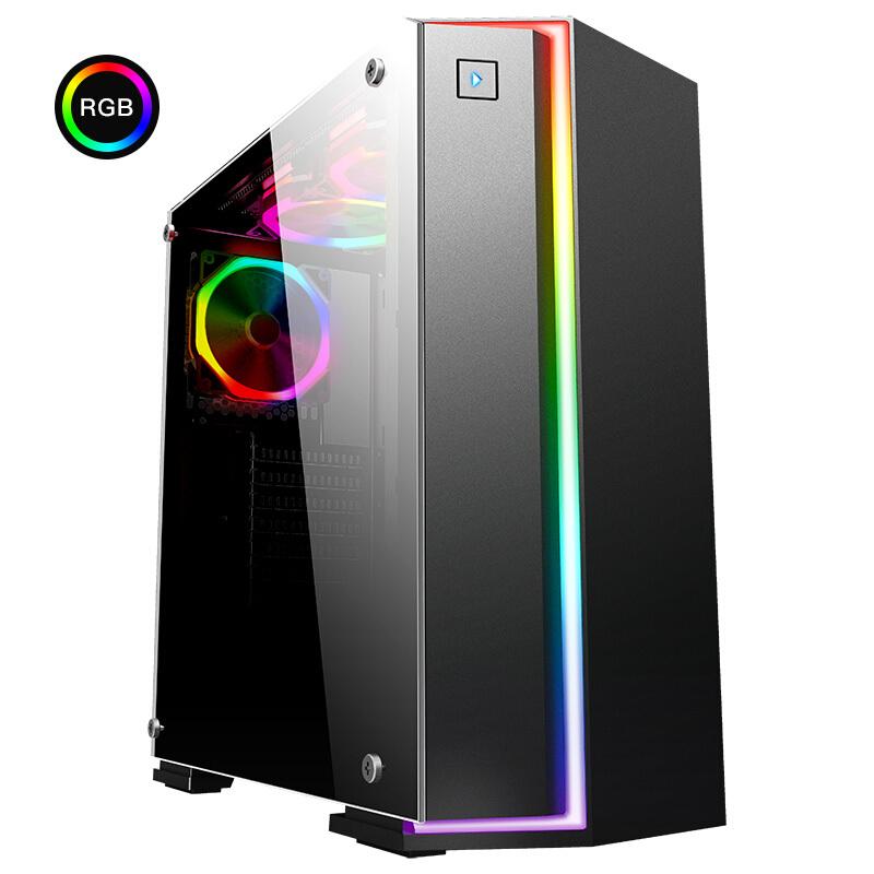 先马 璃光5号 水冷机箱 炫彩RGB流光灯条钢化玻璃侧板(支持ATX主板双240水冷走背线