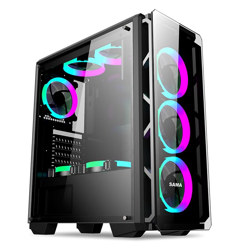 先马 守护者5 精品游戏机箱 (0.6mm厚钢板、U3、SSD位、前后对流散热)