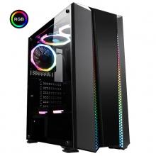 先马 灵狐5 游戏电竞台式电脑主机箱 RGB炫彩灯光/钢化玻璃侧透/支持ATX主板/0.7MM钢材