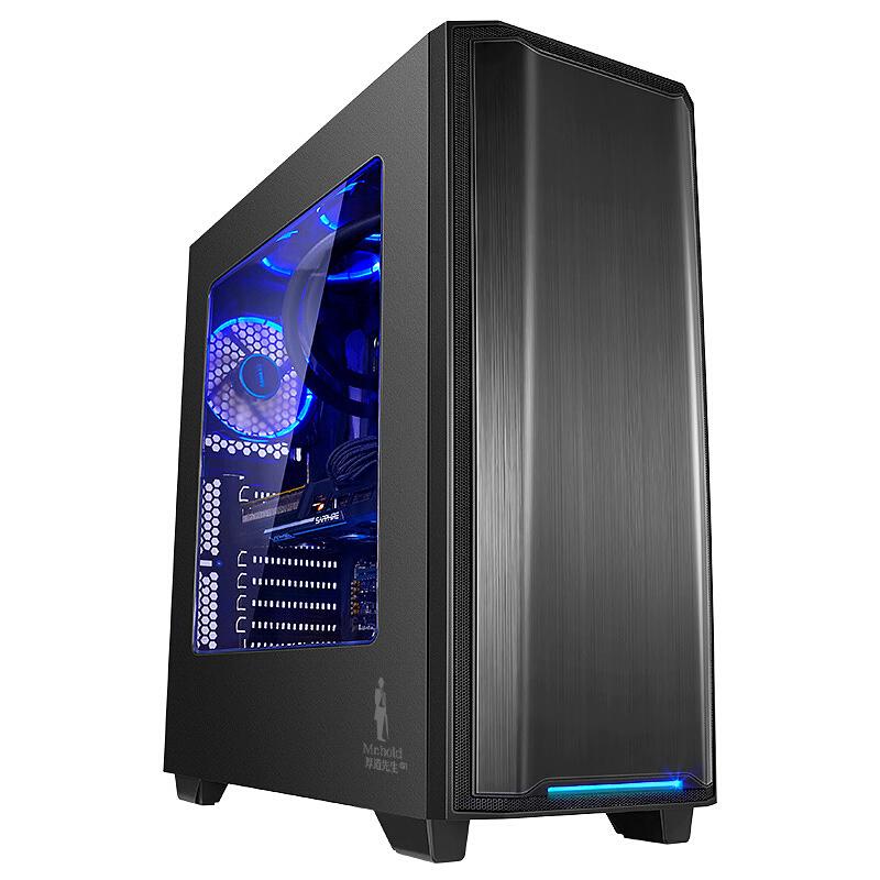 先马 厚道先生G1 高塔游戏电脑主机箱(双360冷排位、高塔8槽、双U3、ATX-Ⅱ结构)