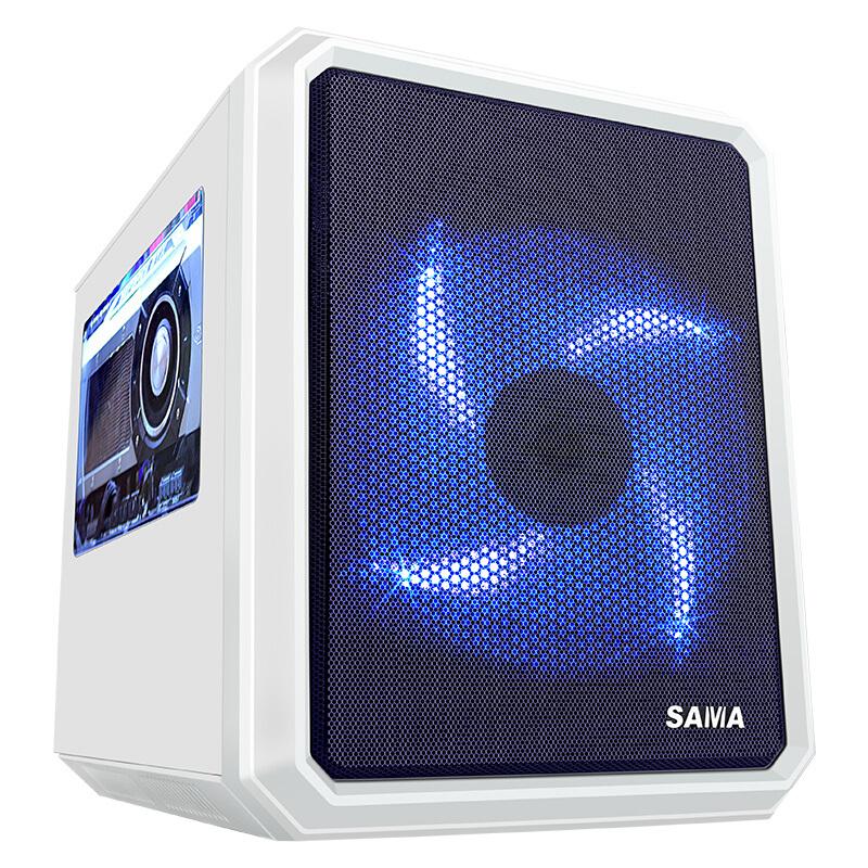 先马 米立方(白) 小板专用迷你游戏电脑机箱U3双SSD背线大侧透平置结构支持高塔CPU散热器双显卡