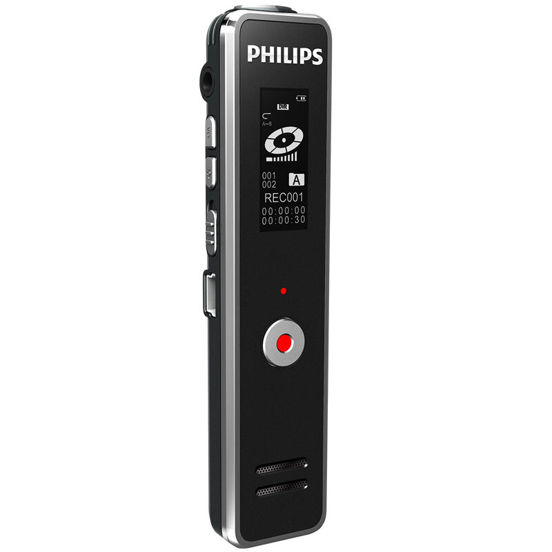 飞利浦录音笔 VTR5100 8GB 学习记录 远距离录音笔