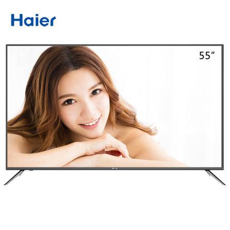 海尔(Haier) LS55H610G 55英寸 人工智能 4K超高清 6核64位处理器 语音操控 智能电视(黑色)
