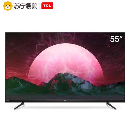 TCL 55V6M 55英寸4K超清全面屏智能AI声控液晶平板官方网络电视