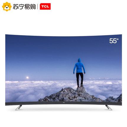 TCL 55T3 55英寸4K超薄运动曲面全面屏高清人工智能网络液晶电视