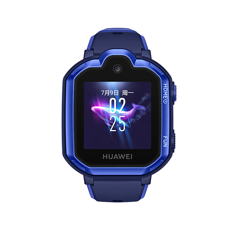华为儿童电话手表 3 Pro 极光蓝(4G全网通 视频通话智能手表 九重定位 小度语音助手 学生 儿童 )
