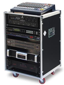 佳唯12U16U加厚铝合金夹板航空机柜音响功放机架调音台航空箱 16U厚夹板+3块金属隔板