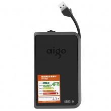 爱国者移动硬盘 USB3.0 移动硬盘 HD806 黑色 机线一体 抗震防摔