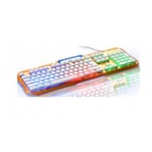 罗品贡技K930键盘 有线办公游戏键盘