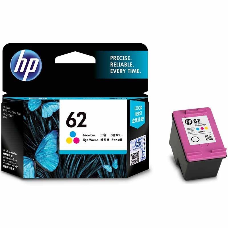 惠普(HP)C2P06AA 62 彩色墨盒 (适用OfficeJet 200 258 便携式移动打印机)